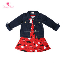 2018 new fashion baby girl outfits for western kid girls children clothing wholesale
