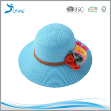 Hot sale colorful straw hat/fashional big brim hat