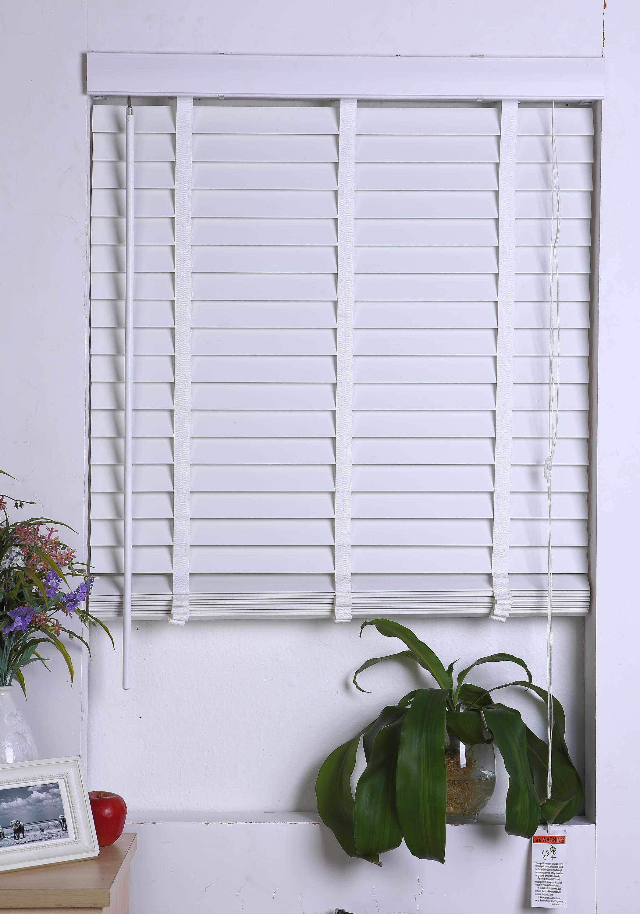 50 and 63mm faux wood or PVC venetian blinds at affordable price