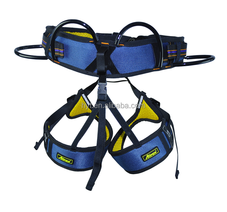 Super light comfortable Half body rock climbing harness mountain rescue safety belt