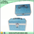 Aluminum frame woman makeup case professional, leather cosmetic case