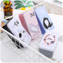 Pencil box wholesale double layer large stationery custom printed metal cute pencil case