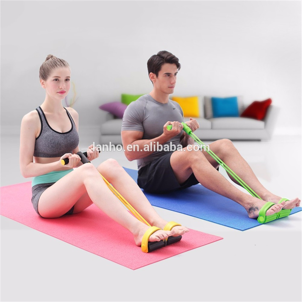Fitness Resistance Band Rope Tube Elastic Exercise Equipment for Yoga Pilates Workout Latex Tube Pull Rope
