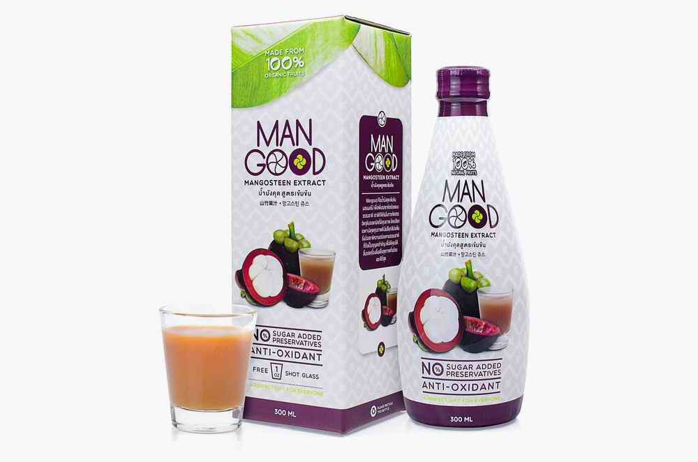 Delicious tasty mangosteen juice with collagen