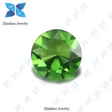 clear apple green round gems jewelry making glass stone for accessories