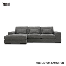 Modern soft L shaped sofa,High End Fabric sectional sofa,Latest Home Sofa Set