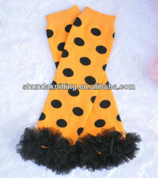 polka dot halloween leg warmers