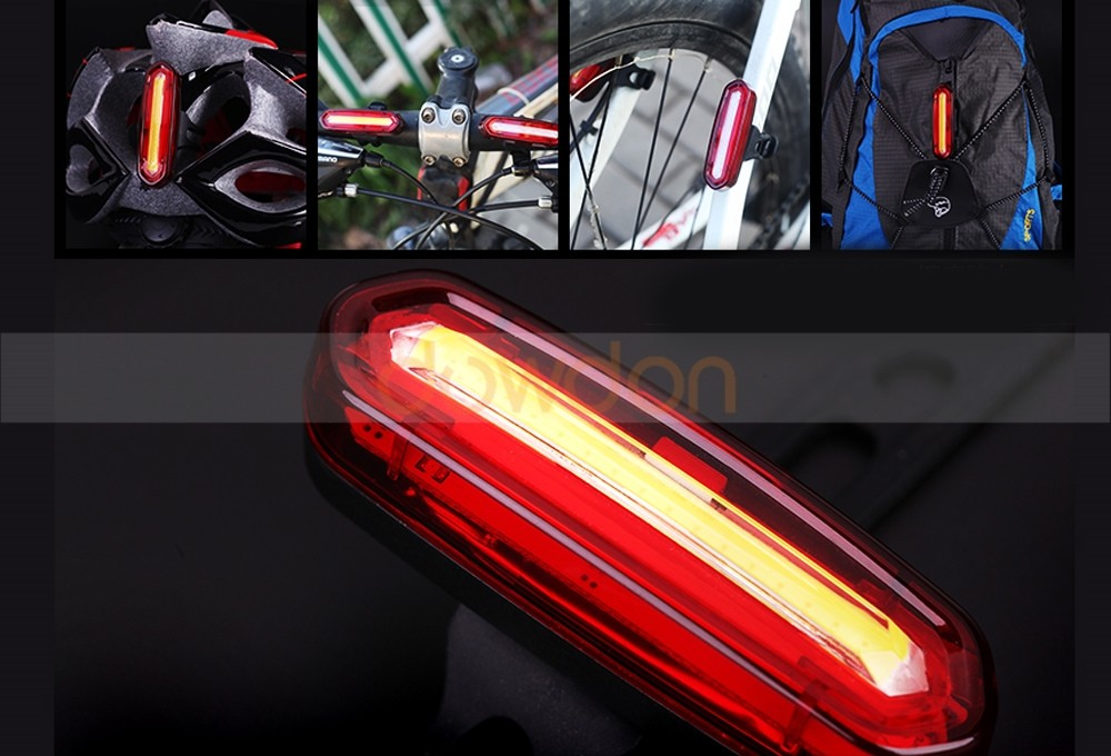 High Waterproof USB Rechargeable 600mah 150LM Max Blue White 2 Color Changeable Helmet Lamp LED Bike Tail Light