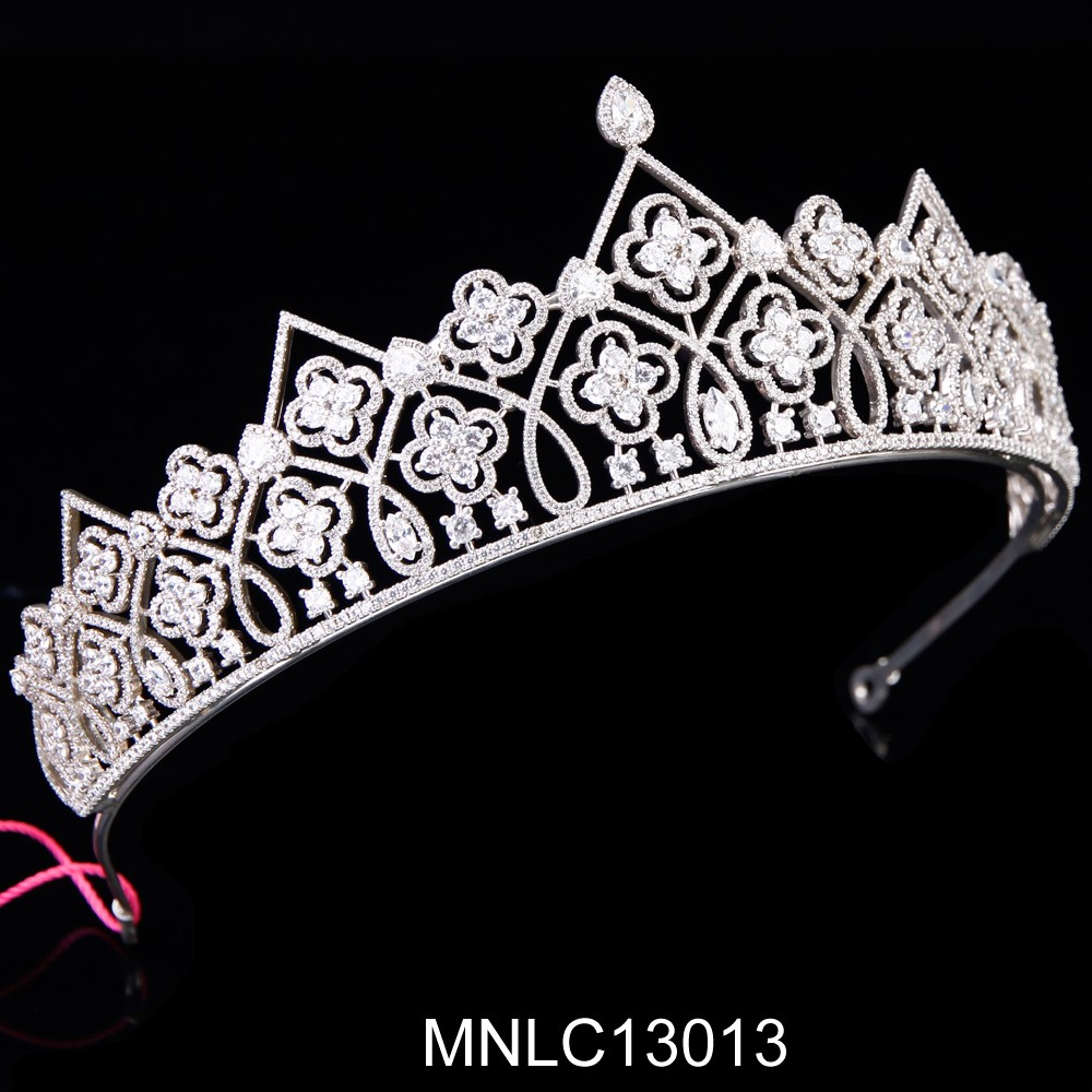 Hot selling fashion bling zircon bridal pageant crown