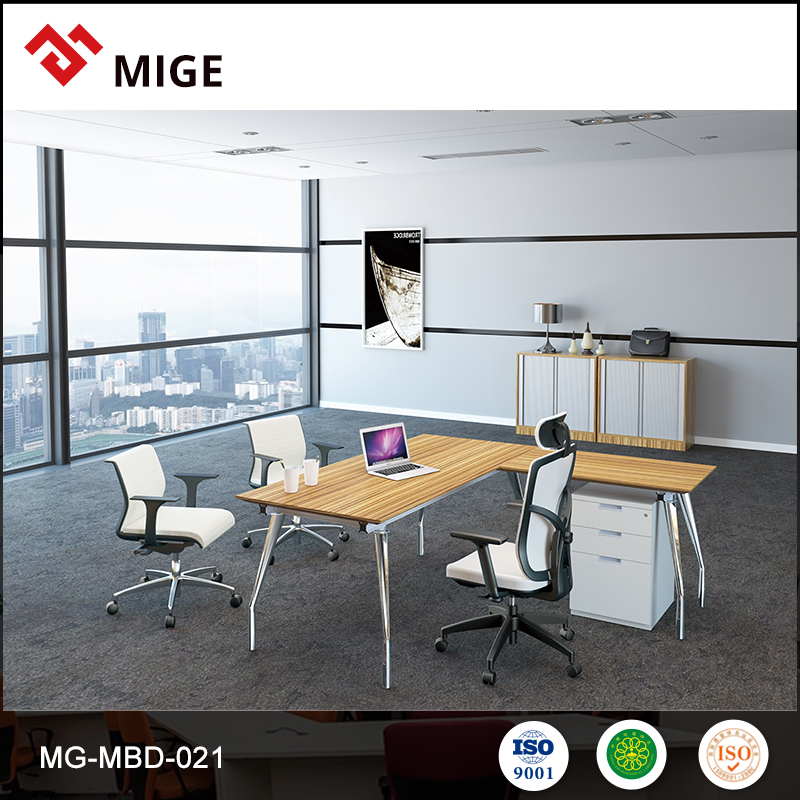 Cheap computer table design l shaped office desk MG-MBD-021