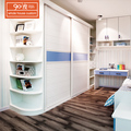 Cheap custom modern white melamine bedroom wardrobe set with customized design