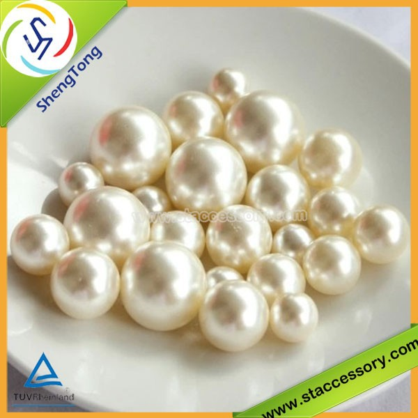 Pearl Beads of Plastic,Imitation Plastic Pearl Beads Without Hole