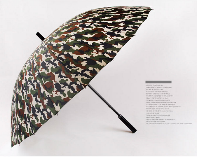 Umbrella maker high quality 24K camouflage golf umbrella