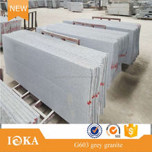 own factory 2cm light grey granite G603 polished half slab