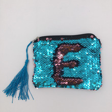 Hot Sell Fancy Reversible Sequin Small Hand Change Purse Small Cute Pocket Coin Purse Bag