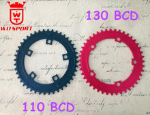5 holes narrow wide teeth110BCD 130 BCD Track Fixie Road Single Speed Chainring Chain Ring