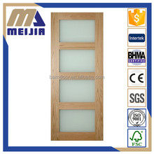 MEIJIA 4 panel glazed shaker sliding interior wood door