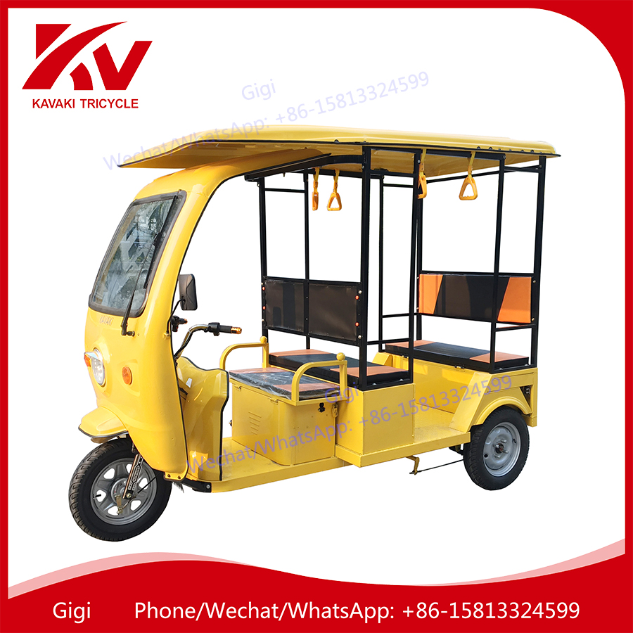 Guangzhou factoy supply KAVAKI brand hot sale 6 seats electric rickshaw tricycle motorcycle passenger