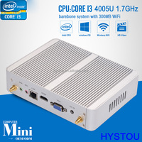 Low Power Intel Core i3 4005u Fanless Mini PC Barebone Desktop Computer Windows 10 Media Player 6 USB WiFi Laptop i3 Mini PC