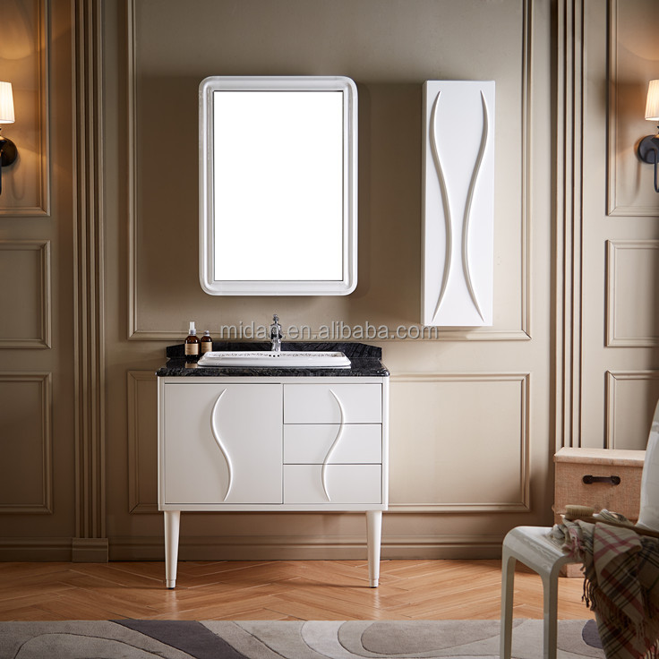 Modern simple style bathroom vanity furniture unit with wooden box