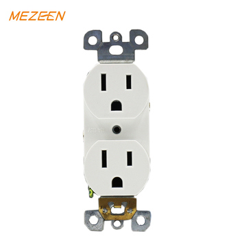 AC quiet decorator socket electrical receptacle types 15 amp receptacle usa socket