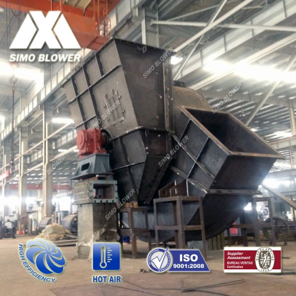 High efficiency heavy duty high air flow low pressure materials delivery of Industrial rotary kilns fan