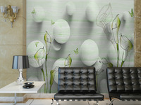 wholesale Eco-friendy 3d huge mural flower and ball murals decoration art