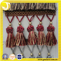 decorative Curtain drapery trim Hanging Tassel fringe trim for home and Textile Decor