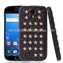 Star Diamond Leather Studs Case for Samsung Galaxy S4 i9500