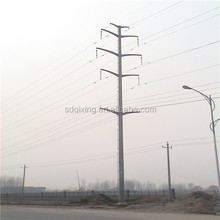 Electrical Equipment & Supplies Galvanized 400kV Transmission Line Steel Pole