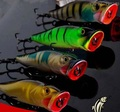 CHPP7-125-40 fishing minnow lure 125mm 40g 3D eyes popper bait with water hole