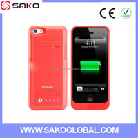 High Quality New Arrival Backup Battery Charger Case for iPhone 5 5s 5c Battery Case 2200 Mah