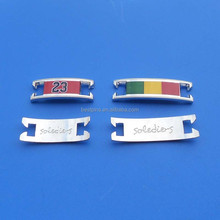 alloy type shoe plate sneaker shoe charms for payers