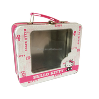 Metal Tin Case with Plastic Handle & Clasp