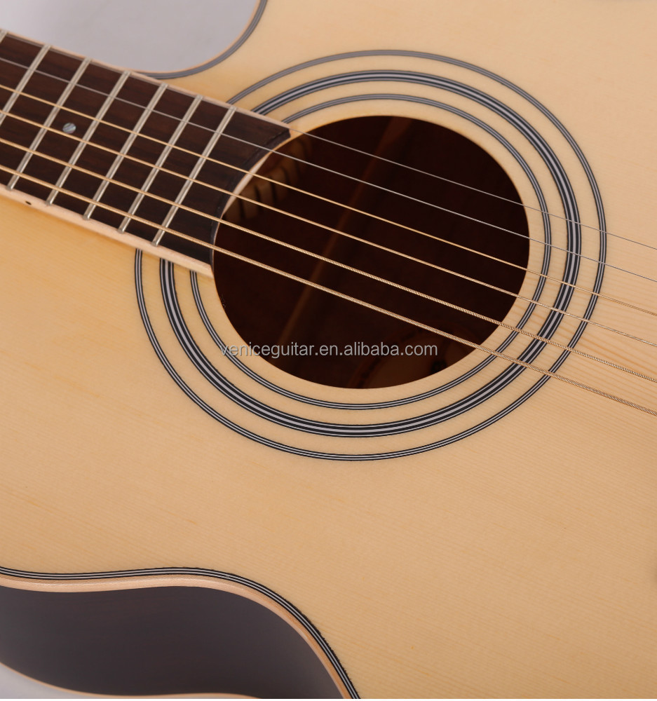 "40""Acoustic Solid Top PT-64 archtop guitar"