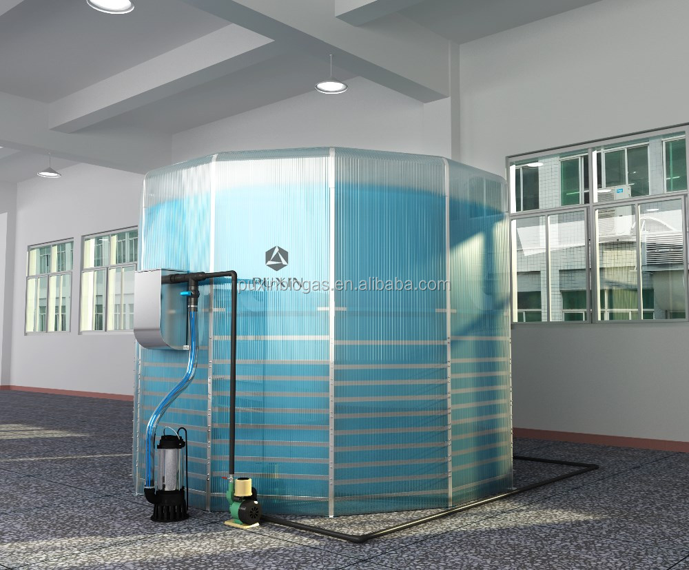 Assembly medium scale waste treatment plant for food waste disposal