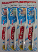 Mr star toothbrush orthodontic with tongue cleaner for adult daily teeth brushing