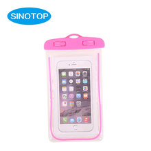 New unique fashion design pvc mobile phone waterproof case with snap-fastener wholesale