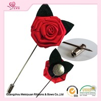 High Quality Handmade Ribbon Flower Lapel