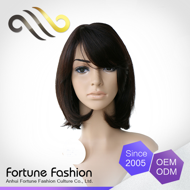 Guangzhou hair wholesale market short straight human hair bobbi boss wigs