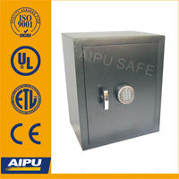 Home Office safes F550-E / single wall / fire proof / Lazer cut door /Electronic lock / Black .