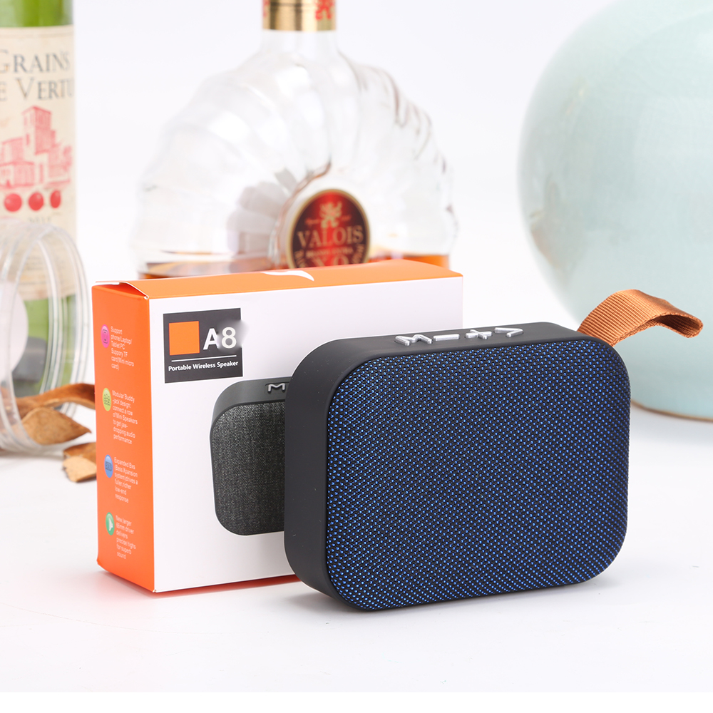 promotion portable <strong>speaker</strong> A8 wireless in car fabric <strong>speaker</strong> with USB TF