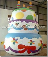 Large inflatable birthday cake for party N1054
