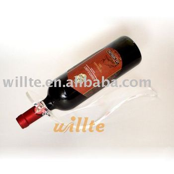 Acrylic single wine bottle holder