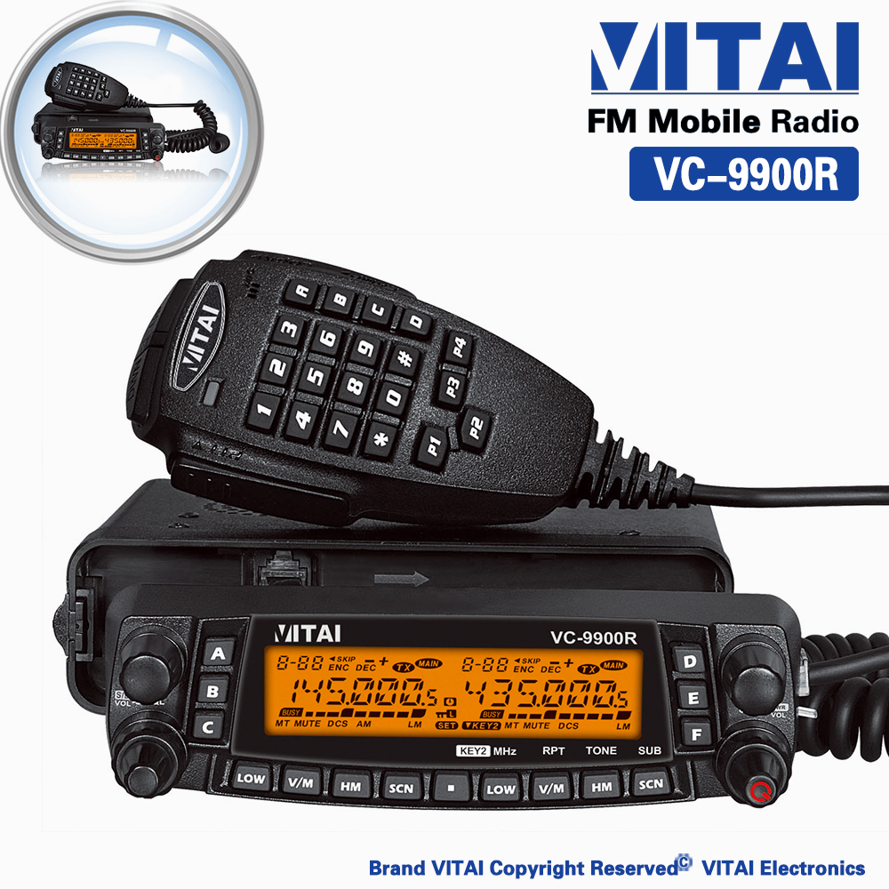 VITAI VC-9900R Face Could be Detached CTCSS&DCS Cross-band Repeat Quad-Band Amateur HF/VHF/UHF Mobile Radio