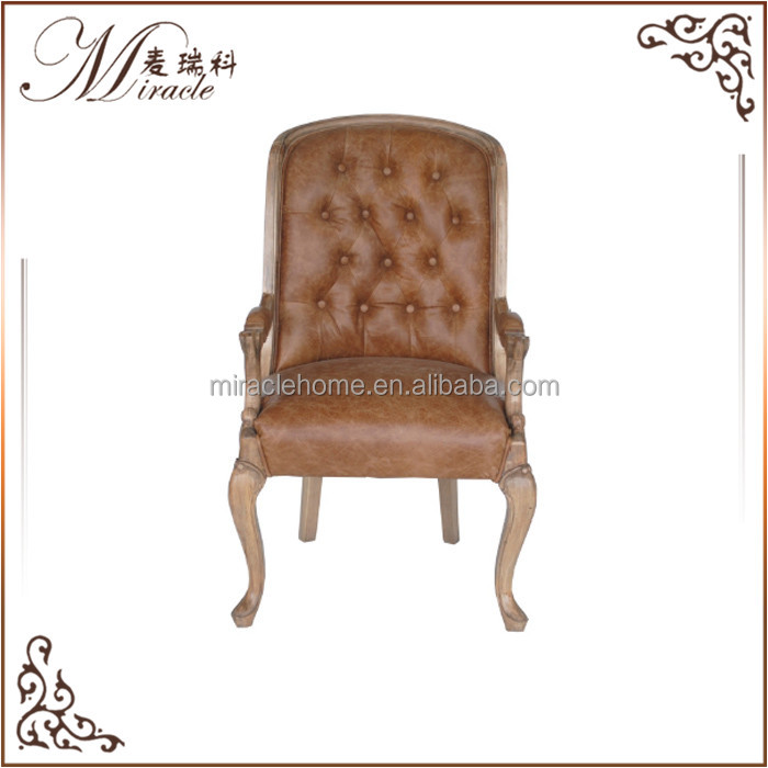 French provincial furniture luxurious <strong>leather</strong> dinning armchair