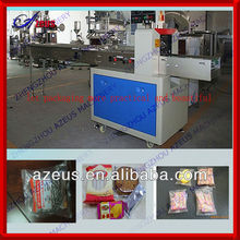 Azeus candy pillow type packing machine clear plastic bread bags packaging machine