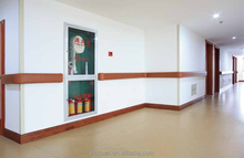 Anti impact hospital corridor PVC handrail for elderly and disabled