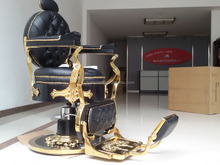 DS-L091Black and golden color europe old style antique barber chair