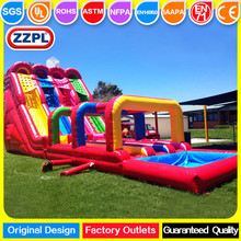 Colorful Party Rental Giant cheap inflatable water slide for sale,kids and adults wants